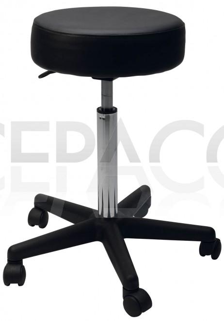 0170260 ECO Tabouret de coiffure spécial avec pompe au gaz et assise ronde