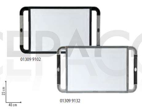 V-DESIGN Miroir rectangulaire poignées en caoutchouc 23x40cm