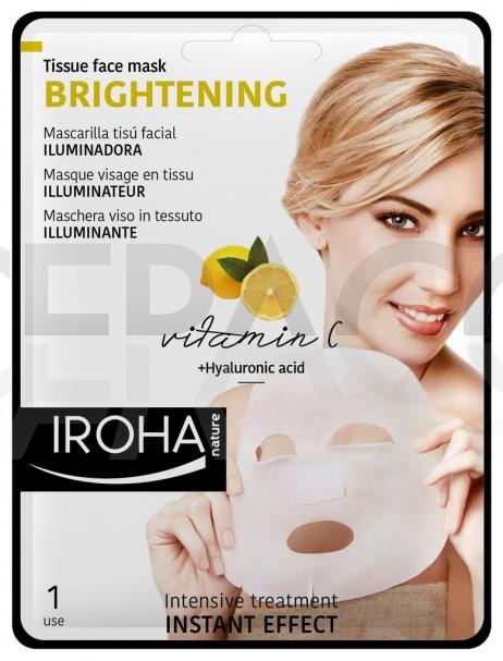 IROHA Tissue face mask BRIGHTENING 23ml