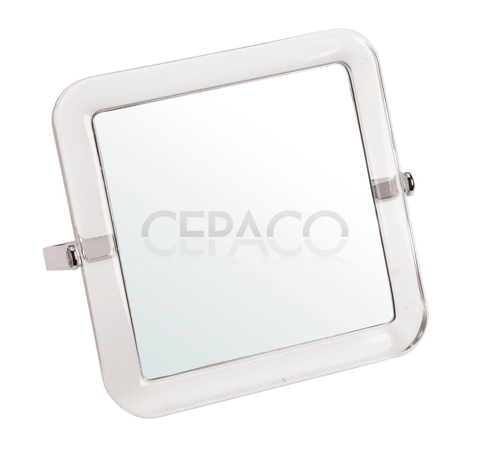 Miroir acrylique double face 15x15cm 5x cepaco le for Double face pour miroir