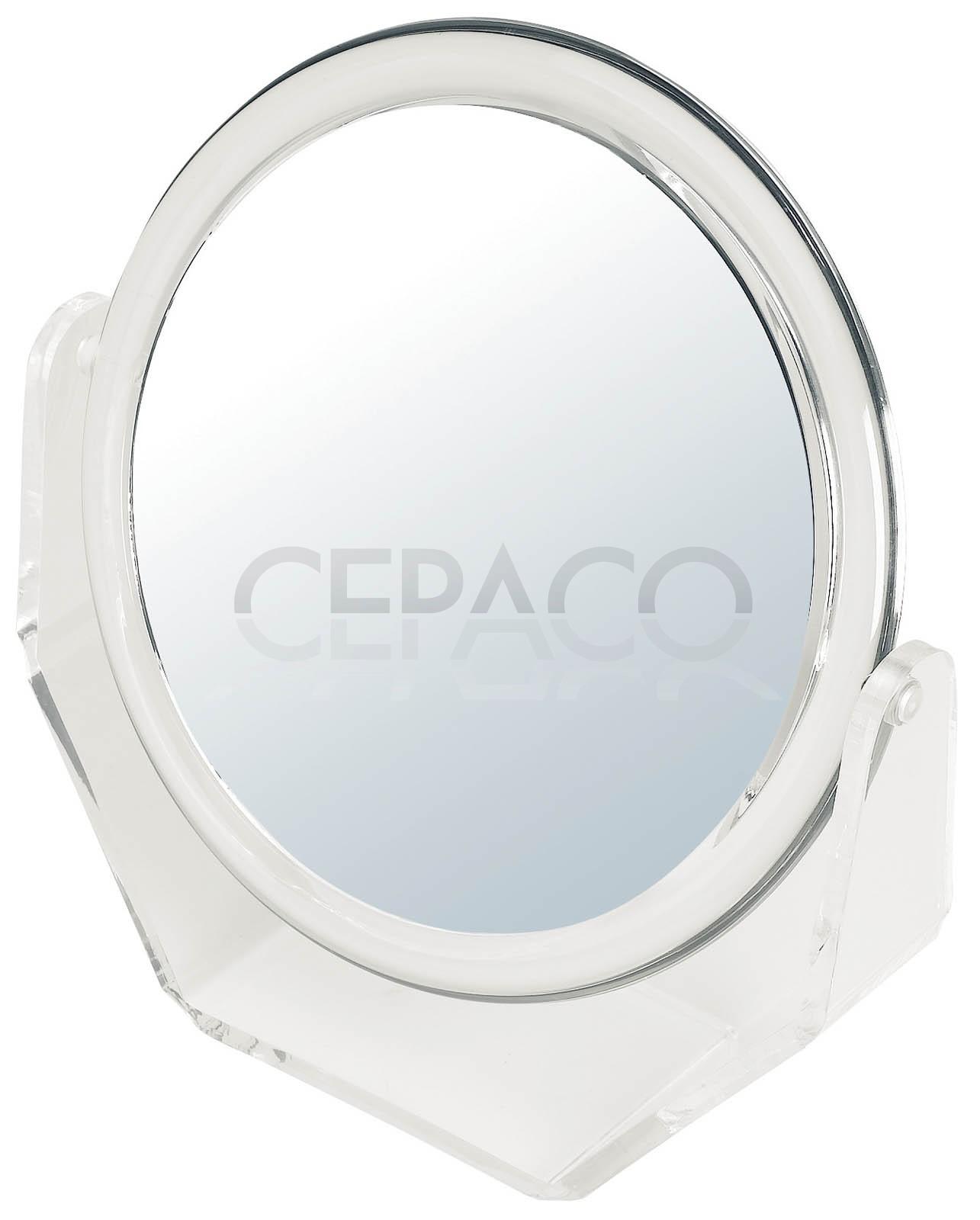 Miroir double face gros pm ou gm av socle 5x cepaco le for Double face pour miroir