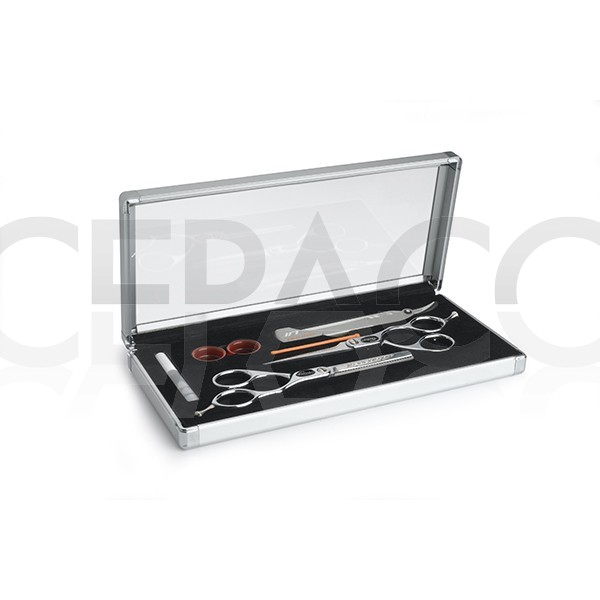 kit Centrax 2 ciseaux 5.5 droitier + 1 rasoir SIBEL