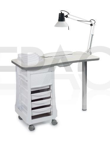 table manucure avec aspirateur integr cepaco le centre. Black Bedroom Furniture Sets. Home Design Ideas