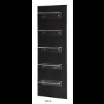 0189120 VENISE Présentoir de vente. Structure en bois sombre avec 5 étagères en polyglass