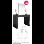 0189160 ISLA Place de coiffage double avec miroir double face et lampes intégrées sur les côtés.