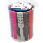 SET DE 24 BROSSES PLATES CROC L MULTICOLORES