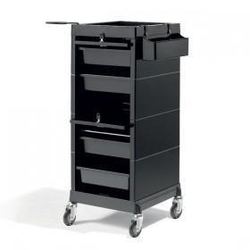000737102 DISCRETE/LOCK Table de service noire avec vérouillage à clé noire