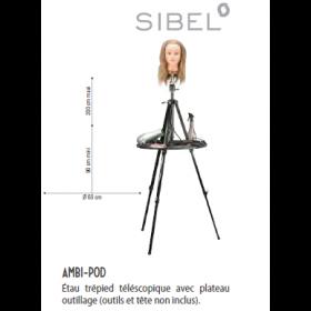 0034531 AMBI-POD Étau trépied téléscopique avec plateau outillage (outils et tête non inclus).