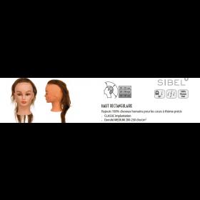 0040041 Rajouts 100% cheveux humains haut rectangulaire