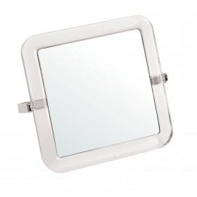 0130951 Miroir carré acrylique double face grossissant 5 fois 15 x 15cm