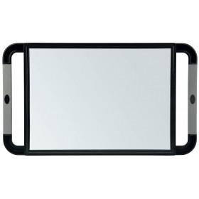 013099102 V-DESIGN Miroir rectangulaire noir poignées en caoutchouc 23x40cm