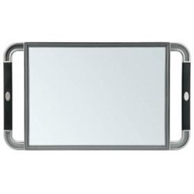 013099132 V-DESIGN Miroir rectangulaire gris poignées en caoutchouc 23x40cm