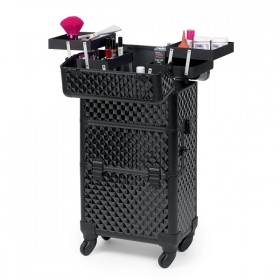 0150070 TWO IN ONE BEAUTY CASE Trolley en aluminium noir