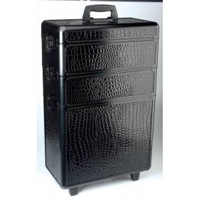 0150631 MODULAR CROCO Valise aluminium à 3 niveaux 22x65x43cm