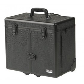 0150662 WINDOWS CROCO Valise aluminium avec trolley noir 27x34x43cm