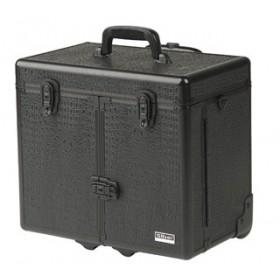 0150662 WINDOWS CROCO Valise aluminium avec trolley noir 27x34x43cm