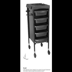0170079 nMILANO Table de service noire