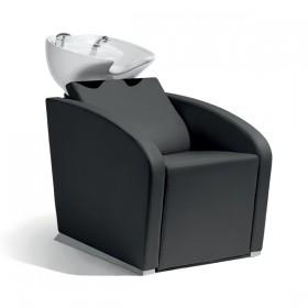 018100002 ELEGANTIA Bac de lavage complet avec assise noir