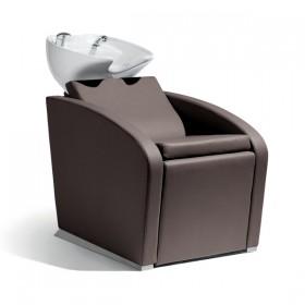 018100015 ELEGANTIA Bac de lavage complet avec assise brun