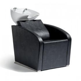 018100092 ELEGANTIA Bac de lavage complet avec assise croco noir
