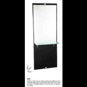 0189000 EBONY Coiffeuse en bois avec tablette en verre