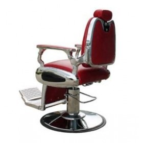 ARROW Fauteuil Barbier Arrow Pompe Hydraulique Rouge