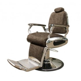 ARROW Fauteuil Barbier Arrow Pompe Hydraulique Brun
