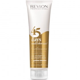 REVLONISSIMO 45 days total color care sulfate free CONDITIONING SHAMPOO for golden blondes 275ml