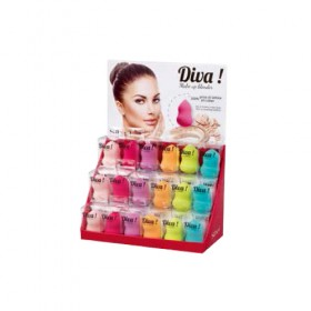 Présentoir à éponges sans latex Diva Make-Up Blender 18 pcs