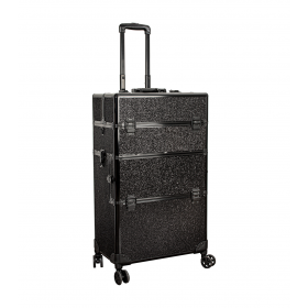 Valise professionnelle trolley black glitter 45 x 27 x 80cm