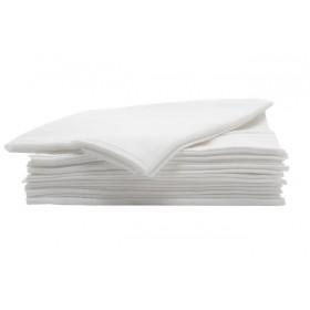 340070001 ABSORB & DRY Paquet de 50 serviettes blanches jetables extrêmement robustes 80 x 40 cm