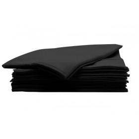 340070002 ABSORB & DRY Paquet de 50 serviettes noires jetables extrêmement robustes 80 x 40 cm