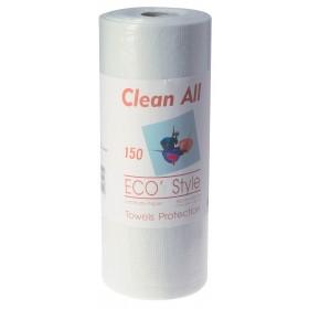 4330403 ECO STYLE Rouleau de 150 serviettes en ouate plastifiées 40 x 53 cm