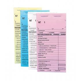 Carnets de caisse précarbonés avec numéros, vendus par 10