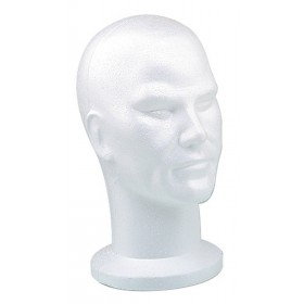 4490300 Tête sagex homme blanche standard