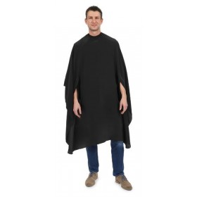 Cape de coupe XL pour hommes sans manche fermeture à crochets Noir  BARBURYS