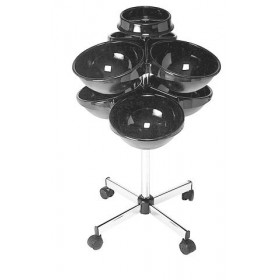 6001109 OLYMPIC Porte-rouleaux avec 6 demi-sphères & 1 bol porte-pics