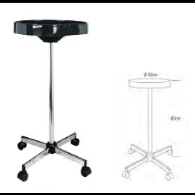 6001909 ECO JOLLY Table de service noire ronde - 1 plateau