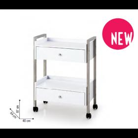 7300743 CHARIOT DE BEAUTÉ Table de manucure compacte munie de tiroirs