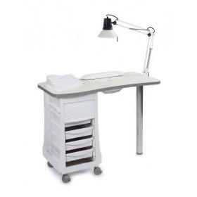 7310610 Table manucure avec aspirateur intégré