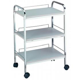 7313200 Table guéridon à 3 plateaux et support pour bol de rinçage (inclus).