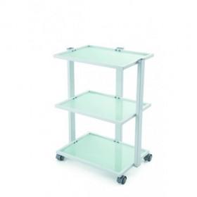 7313202  TANIA Table de travail en métal et en verre trempé