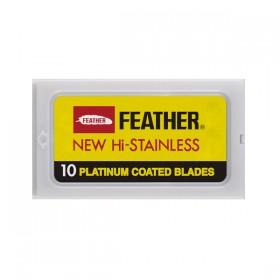 Feather Lames à double tranchant - 1 boîte de 10 lames