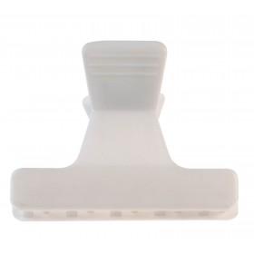931003201 Pinces sépare-mèches blanc 12pcs 5.5cm