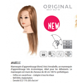 0030095 Tête d'apprentissage Anabelle blonde