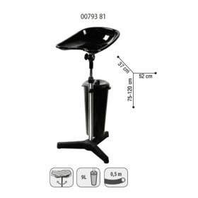 0079381 LAGOON MOVE Lave-tête avec cuvette inclinable et réservoir 9l, tuyau 0,50 m