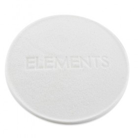 ELEMENTS Eponge Soin Blanche PVA Compressée 11.5cm