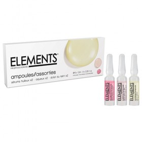 ELEMENTS Ampoules assorties 2 x Sérum Aqueux, 2 x Sérum Huileux, 2 x Sérum Eclat du Teint
