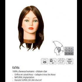 0040351 Tête d'apprentissage Kathia châtain clair