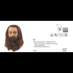 0041001 Tête d'apprentissage Leif avec barbe châtain
